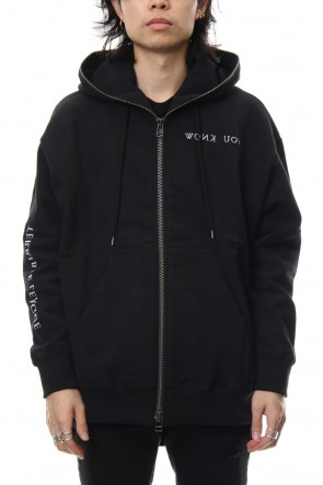 DIET BUTCHER SLIM SKIN 18-19AW Embroidery Zipped Hoody