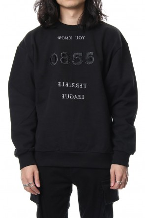 DIET BUTCHER SLIM SKIN 18-19AW Embroidery Sweatshirt