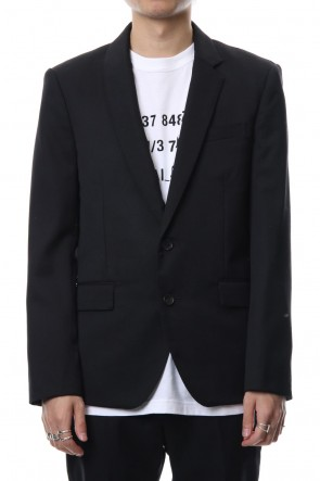 DIET BUTCHER SLIM SKIN 18-19AW Wool Asymmetry Collar Jacket
