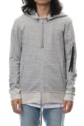 ASKyy 18-19AW Removable hoodie blouson - Snow Gray