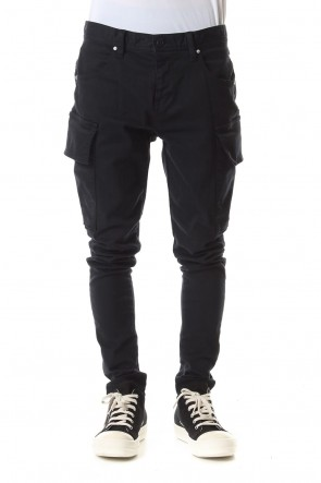 DIET BUTCHER SLIM SKIN 19-20AW Loose fit cargo pants Black