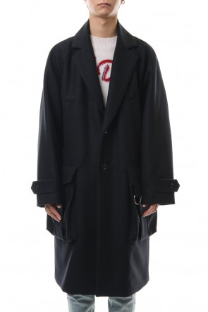 DIET BUTCHER SLIM SKIN 19-20AW Raglan sleeve light melton coat