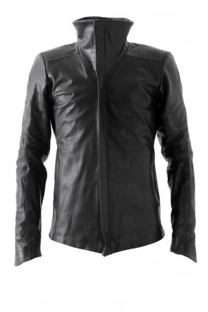 High Neck Jacket Calf Leather - Devoa