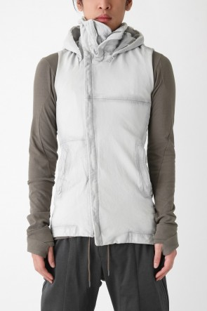 DEVOA 16SS Sheep Leather Sleeveless Hooded Jacket