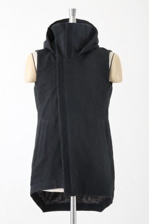 Japanese Paper Selvedge 10.5oz Hooded Vest