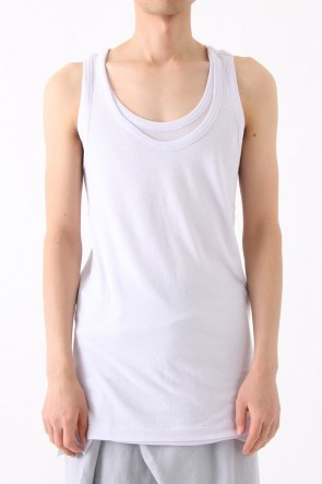 40/1 Cotton Linen Hard Yern jersey Tank-top