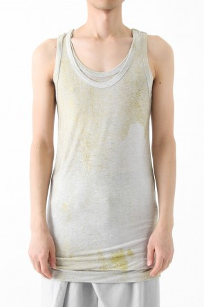 "30 Tencel jersey ""Gradation"" Print Tank-top"