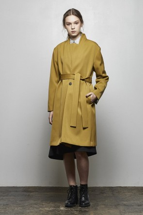 divka18-19AW2/47 Off Scale Wool Coat - DK14-09-C01