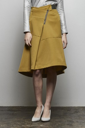 divka18-19AW2/47 Off Scale Wool Culotte Skirt - DK14-09-S07-Olive