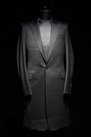 GalaabenD16-17AW16AW Tuxedo Cloth Stretch Chester Coat
