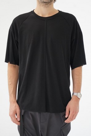 The Viridi-anne 19SS Strong textured T-shirt Black