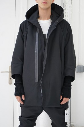 NILøS 19SS COMBINATION SLEEVE HOODED BALLOON JACKET