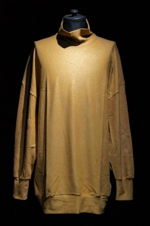 DIET BUTCHER SLIM SKIN 16-17AW 16AW STRETCH SUEDE HIGH NECK PULLOVER BEIGE