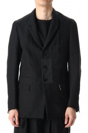 DUELLUM 20-21AW Peaked Lapel Patchwork Jacket
