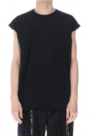 DUELLUM 21SS Embroidery French Sleeve T-shirts Black