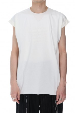 DUELLUM 21SS Embroidery French Sleeve T-shirts White