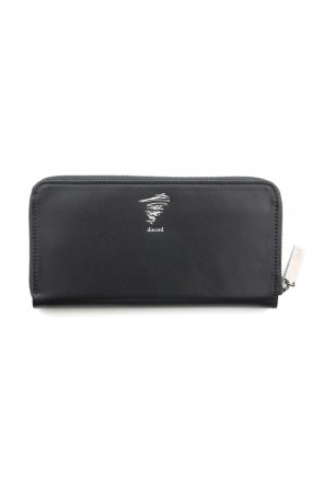 Discord Yohji Yamamoto 18-19AW Gloss smooth leather Long wallet - DV-A05-701