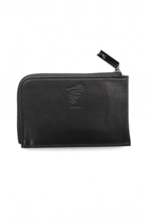 Discord Yohji Yamamoto 18-19AW Antique leather compact wallet - DV-A07-703