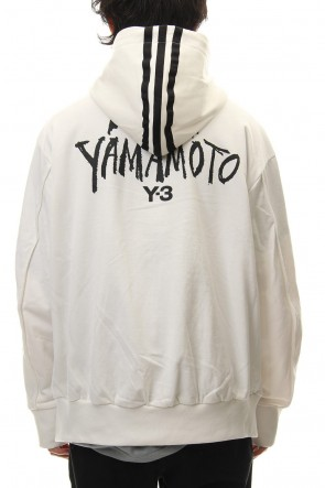 Y-3 19SS Y-3 Signature Graphic Hoodie Core White