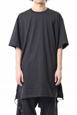 Y-3 19SS Y-3 Drawstring Long Tee Black