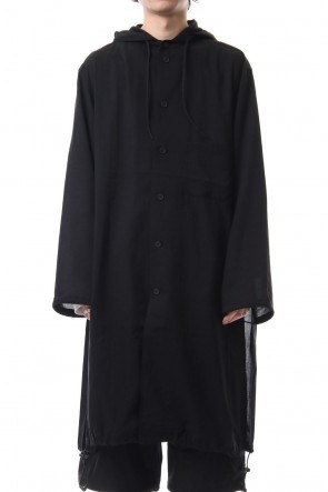 Y-3 19SS Y-3 Hooded Long Shirt
