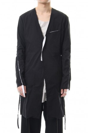 ASKyy 19SS Ribbon Coat - Black / White