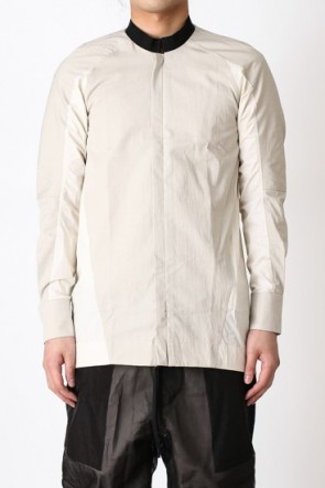 Elastic Collar Zip Shirt