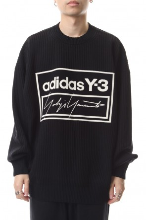 Y-3 19-20AW Tech knit Crew Sweater Black