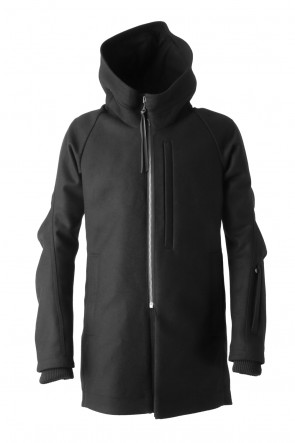 Hooded Coat Cashmere Melton