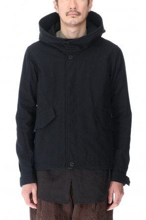 DEVOA 21SS Hooded jacket cotton / nylon Black