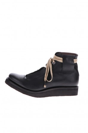 DEVOA 20-21AW Ankle boots kudu & calf leather Black