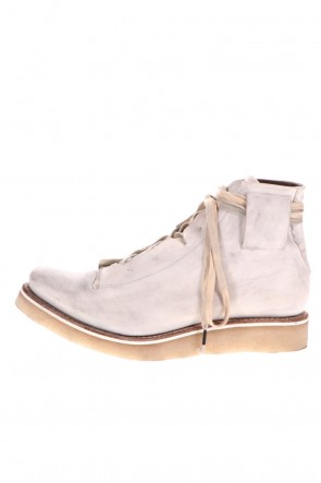 DEVOA 20-21AW Ankle boots kudu & calf leather Dirty White