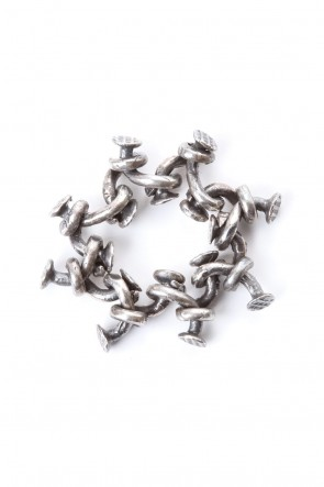 Guidi 20SS Nail Chain Ring