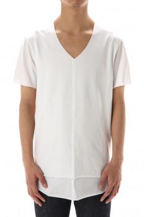 ASKyy 20SS Layered cutsew V-neck - White