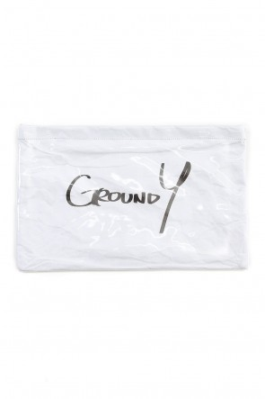 Ground Y 19-20AW Polyvinyl Chloride Clutch bag White