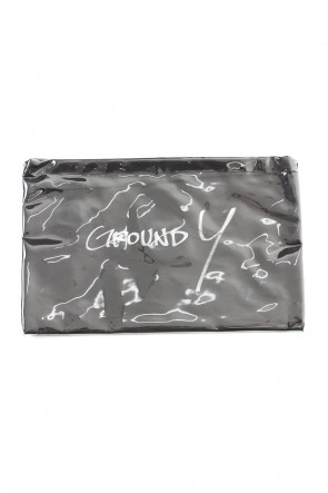 Ground Y 19-20AW Polyvinyl Chloride Clutch bag Black