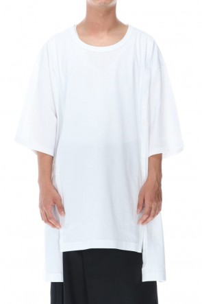 Ground Y Classic Jersey Open Button short Sleeve Jumbo T White