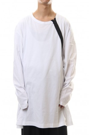 Ground Y Classic Jersey Shoulders Zipper Long Sleeve T White