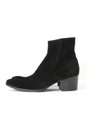 GalaabenD 16-17AW 16AW Velour Suede Heel Boots BLACK