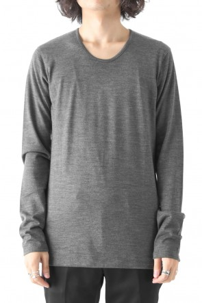 GalaabenD17-18AW2/72 WASHER PULLOVER PLAIN STITCH LONG SLEEVE