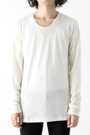 GalaabenD 17-18AW 2/72 WASHER PULLOVER PLAIN STITCH LONG SLEEVE