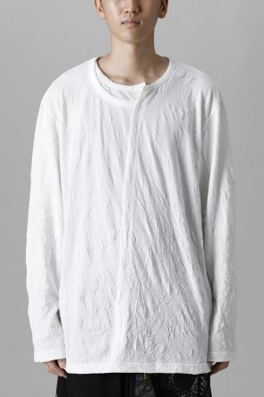 Ground Y21-22AWCollar deformed long sleeves White