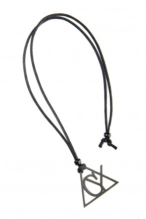 Ground Y 20SS Triangle necklace Black