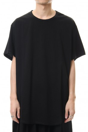 Ground Y 20SS Round Short Sleeve Cut Sew Black