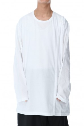 Ground Y 20-21AW Right Button Straight Cut Sew Long White