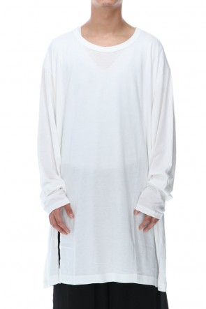 Ground Y 20-21AW Jumbo cut-sew long White
