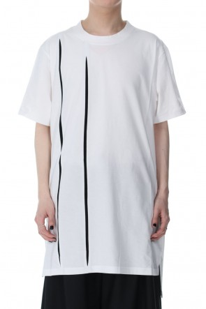 Ground Y21SSCutting Blade Short Sleeves Cut Sew White