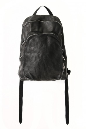 Soft Horse Leather Back Pack - DBP06 - BLACK