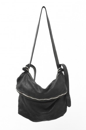 Guidi 18-19AW Leather Shoulder Bag - Soft Horse Full Grain Leather - M10 - BLACK