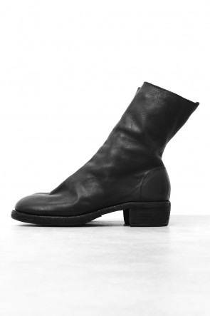 Side Zip Boots Double Sole - Soft Calf Full Grain Leather